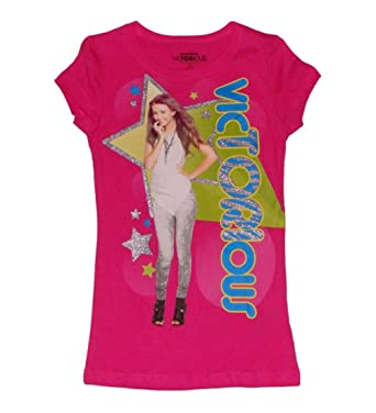 Amazon.com: Nickelodeon Victorious Girls Chracter T-shirt (L (10 ...