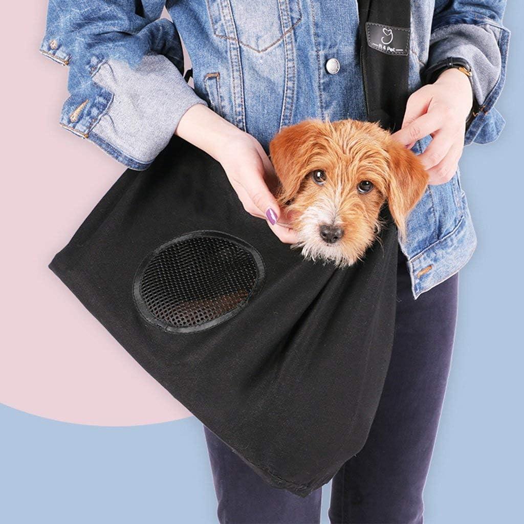 DXX Zaini per animali domestici Zaini per animali domestici Portatili Borsa per cani Borsa a tracolla per auto,Nero,19 56 34 cm