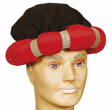 Turbante costume rosso Sheikh arabi Cappello Aladin Carnevale ... b9df8850b559