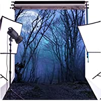 DULUDA 5X7FT Halloween Horror Forest Fabric Photo Backdrops Customized Studio Background Studio Props AJS24