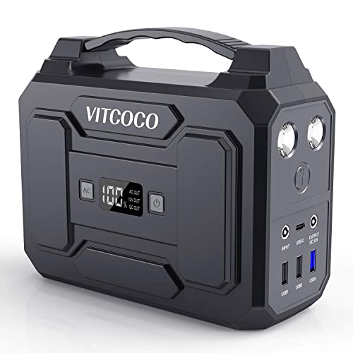 VITCOCO Portable Power Station 100W 167Wh 45000mAh Rechargeable Generator Backup Power Source Lithium Battery