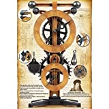 New 10 in. Super Science Kit Mechanics Tabletop Academy Leonardo Da Vinci Clock Time Show Watch Pendulum Design Weight Gift Wall