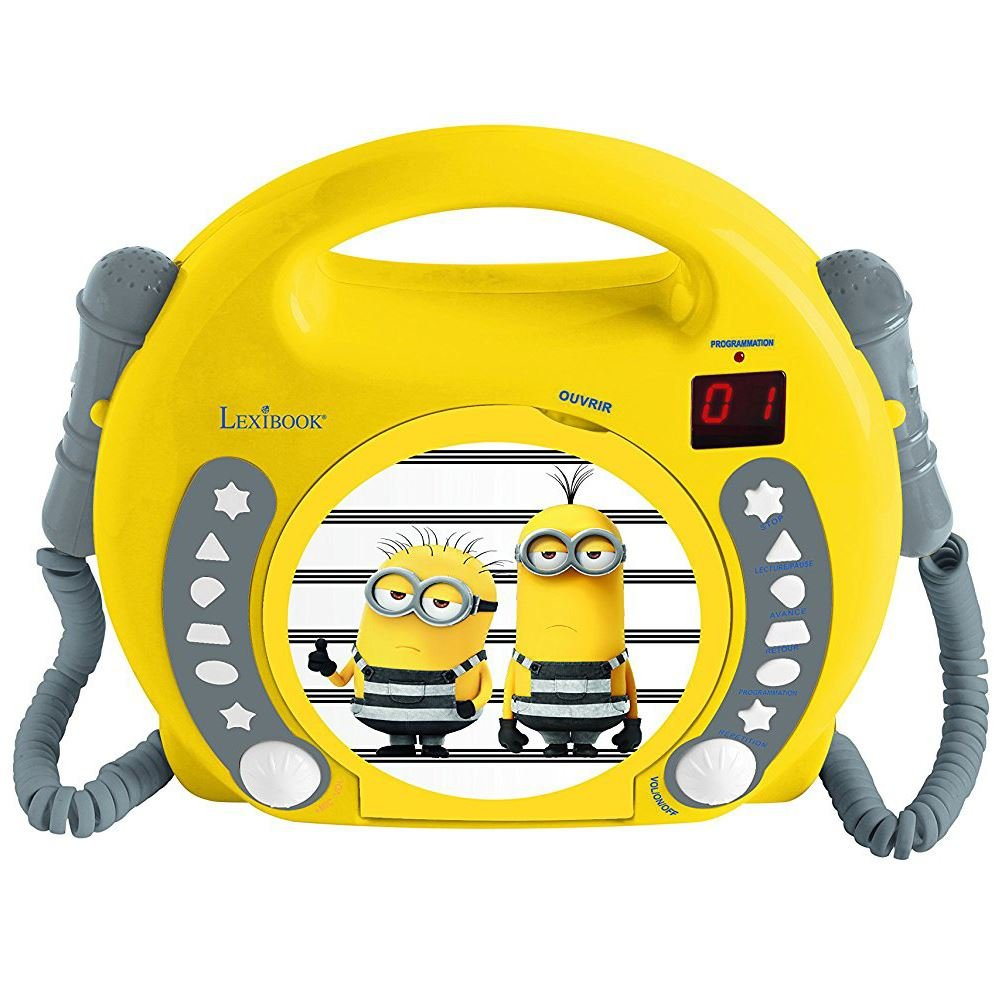 LEXiBOOK Despicable Me Minions CD Player with Microphones
