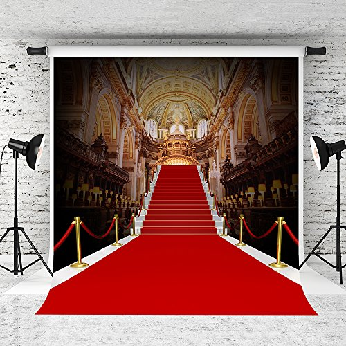 Kate 10 x 10ft Red Carpet Backdrop Palace Style Stage Photography Background Photo Studio Props Seamless by Kate