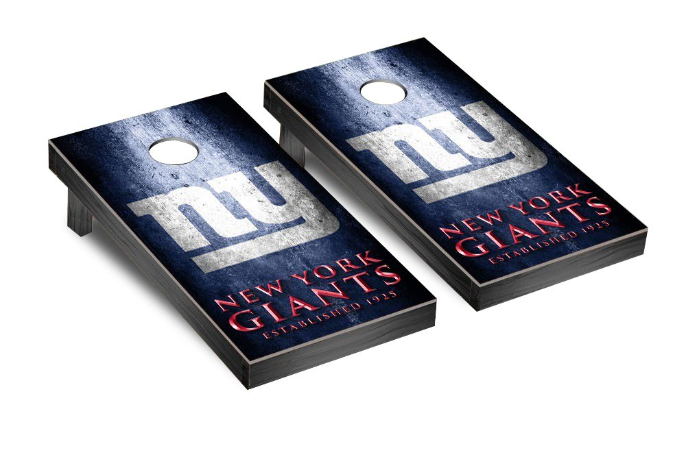 NFL New York Giants Museum Version Football Corn hole Game Set, One Size by Victory Tailgate (Image #1)