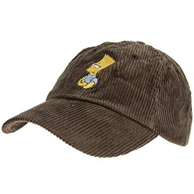 Amazon.com  Simpsons - Mens Simpsons - Bart Corduroy Baseball Cap ... d2020d1d3fe