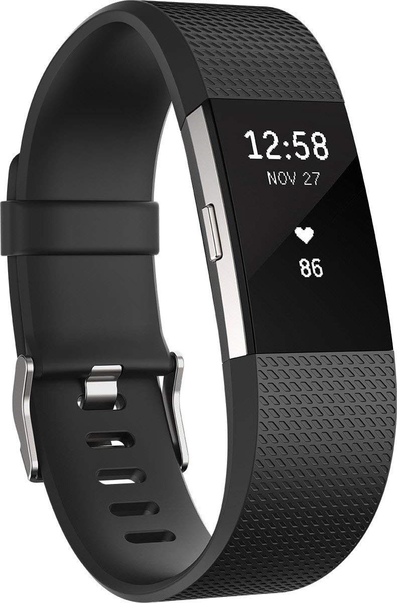Fitbit Charge 2 Heart Rate   Fitness Wristband  Black  Small  International Version