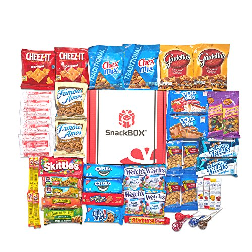 Care Package for College Students, Military, Valentines Day, or Back to School (50 Count) From Snack Box …