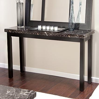 Etonnant Galassia Faux Marble Console Table