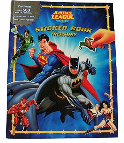 - Meggan's Warehouse DC Comics Justice League Sticker Book Treasury ~ Daring Defenders (6 Books in 1, 3 Large Posters, Over 500 Reusable Stickers; 2016; 9.5
