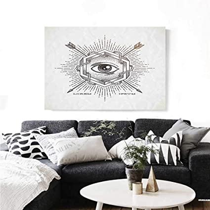 Amazon com: Occult Modern Canvas Painting Wall Art Third Eye in