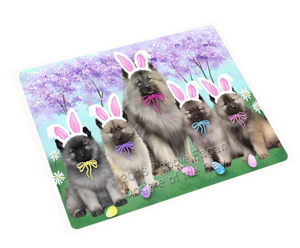 Doggie of the Day Easter Holiday Keeshonds Dog Blanket BLNKT131907 (60x80 Woven)