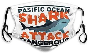 langhu Mask Mask for Men and Women Surfing Graphic Print Shark Attack California Masks