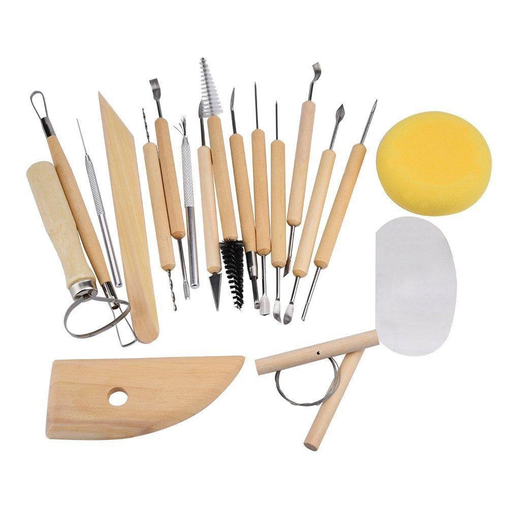 19 Piece Clay Pottery Sculpture Tools Sculpting Carving Tool Set Mini Pottery / Ceramic Tools Set Kzy trade Manufacturer 4336842242