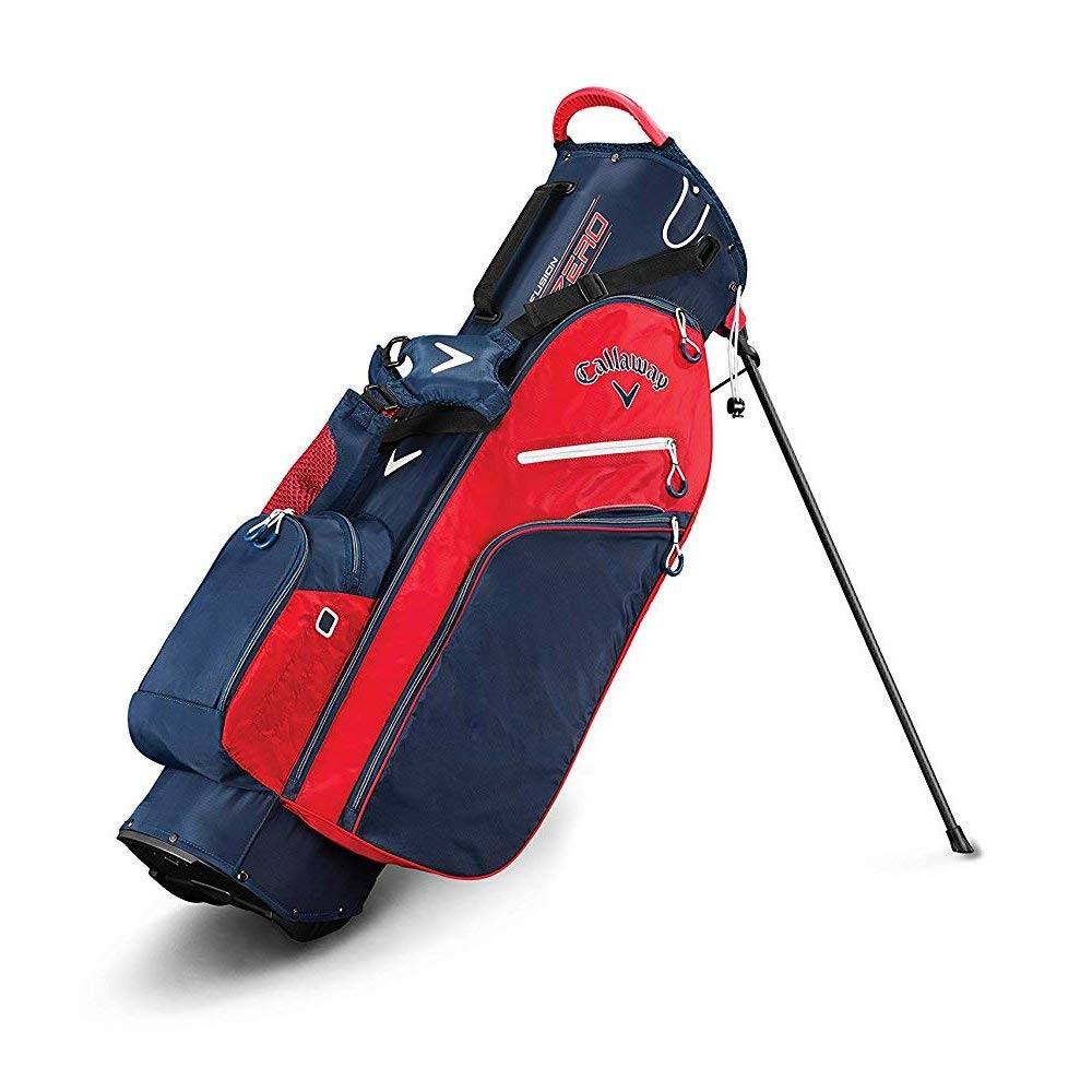Callaway Golf 2019 Fusion Zero Stand Bag, Navy/Red/White by Callaway