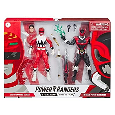 Power Rangers Lightning Collection in Space Psycho Red Ranger and Lost Galaxy Red Ranger 6-Inch Action Figures: Toys & Games