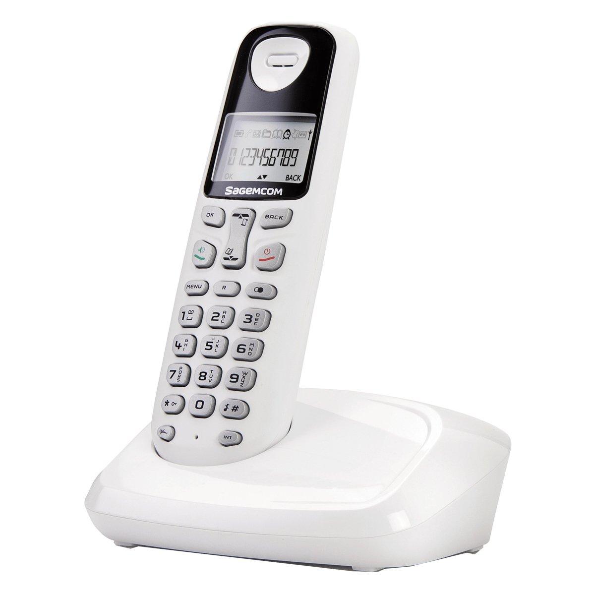 Téléphone fixe SAGEM D17T BLANC SOLO SANS REPONDEUR
