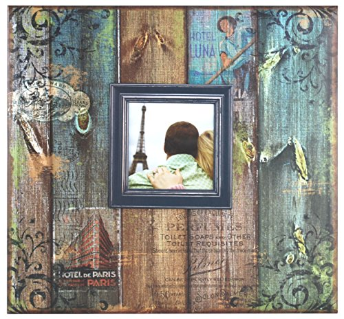 Pages Scrapbook Custom - MCS 12x12 Inch Vintage Travel 20 Page Scrapbook and 3.5x3.5 Inch Cover Opening (86008)