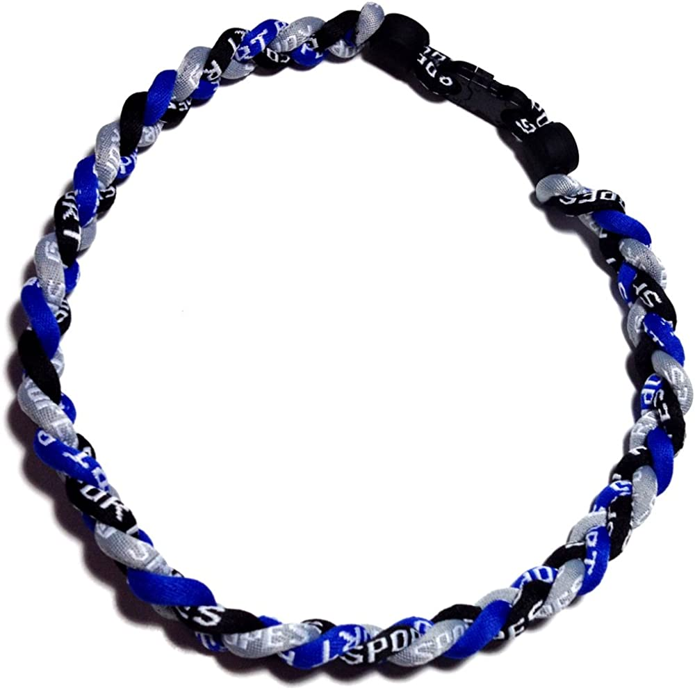 Choose from Multiple Colors and Sizes Sport Ropes 3 Rope Titanium Necklace