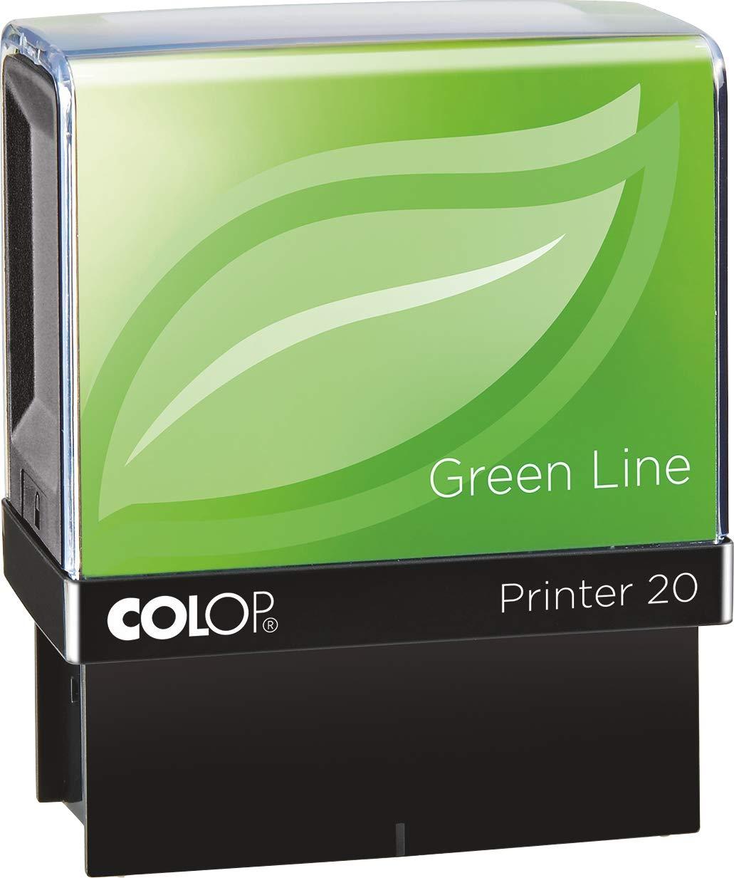 COLOP プリンター 20 エアメール グリーン ライン スタンプ - レッドインク   B07N7X8J8J