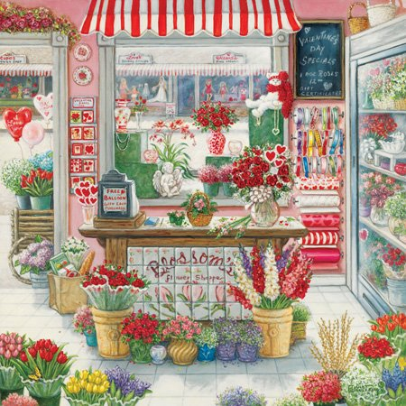 Great American Puzzle Factory Blossoms Flower Shoppe 750 Piece Puzzle