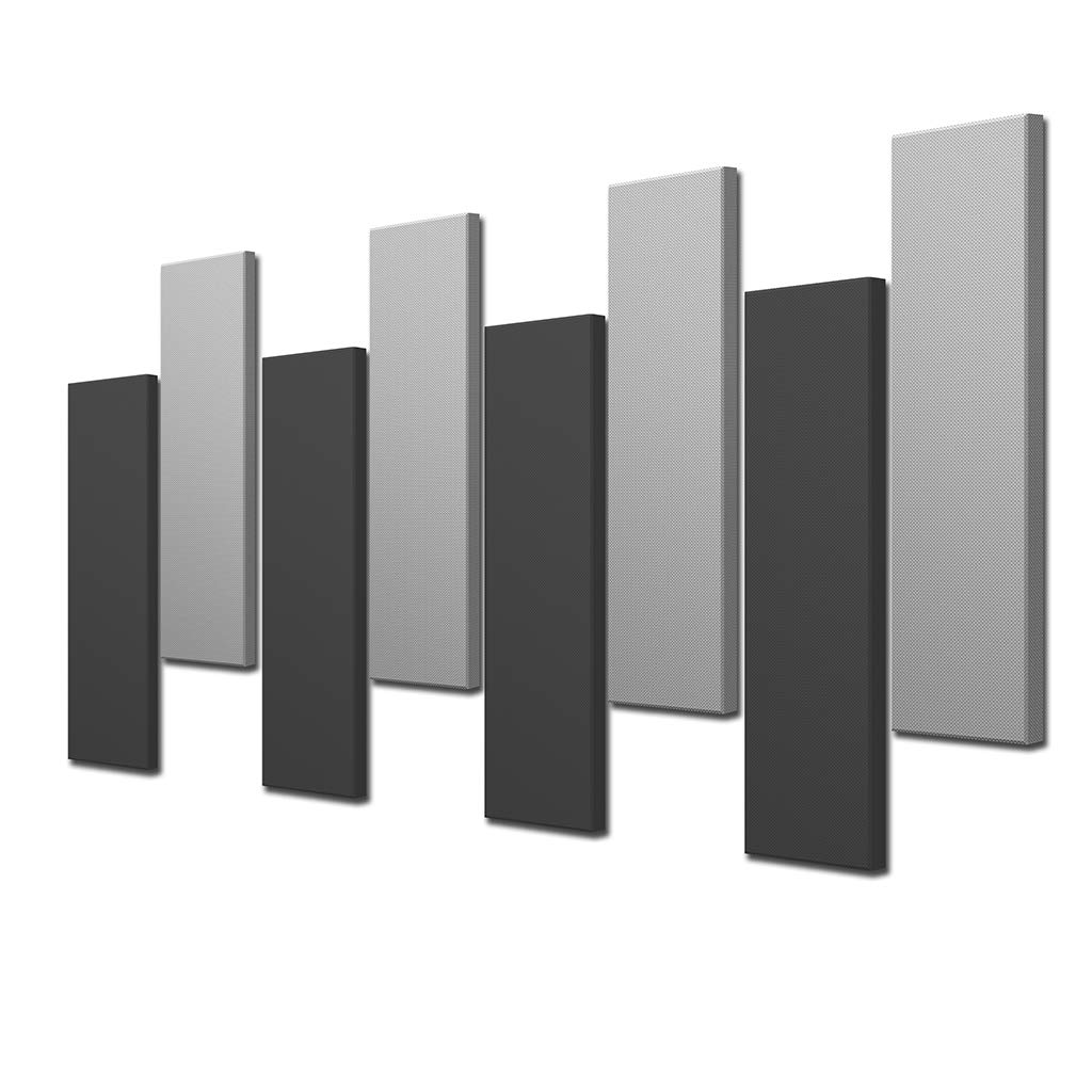 Acoustimac DMD Stagger Acoustic Design Pack: 8 Pcs 8)4'x1'x2'' 4-gray & 4-charcoal