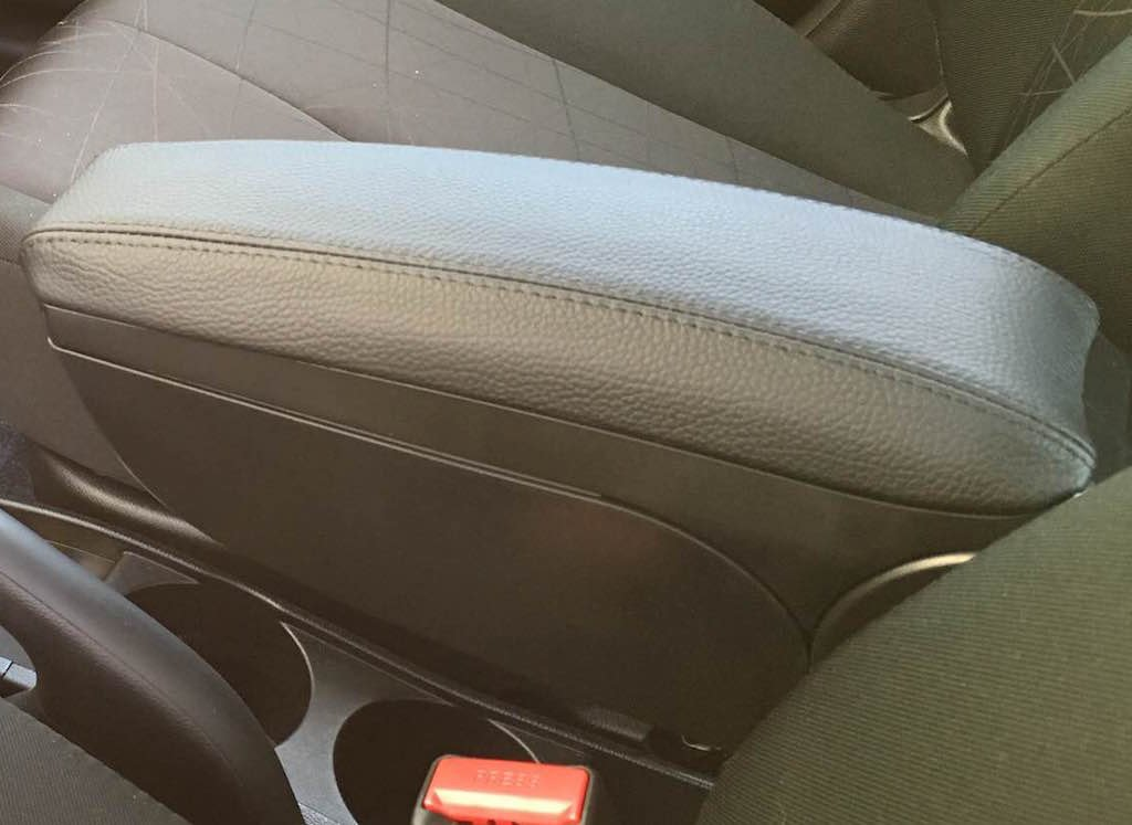 Coupe Manual Compatible with Infiniti G35 RedlineGoods armrest Cover Black Alcantara-Red Thread 2003-07 V35