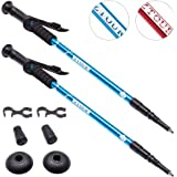 Trekking Poles Walking Sticks Hiking Pole Collapsible Anti Shock Ultralight Adjustable Folding Trails by ZTOUR