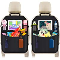 DIAOPROTECT Bilbaksätes skydd, 2-pack bilbaksätes-organisering för barn, vattentätt bilsätesskydd med pekskärm iPad…