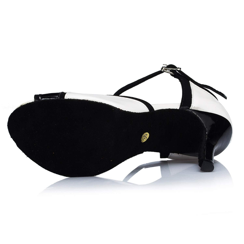 Elobaby Damen Tanzschuhe BT-23 Kätzchen Schnalle Leder Leder Leder Latin Samba Modern Jazz Dance B07MSFTHZ1 Tanzschuhe Online-Exportgeschäft d47456