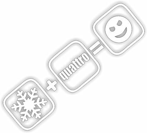 Film Centre Snow Quattro Smiley Shocker Hand Car Sticker Jdm Tuning Oem Dub Decal Stickerbomb Bombing Fun White White Auto