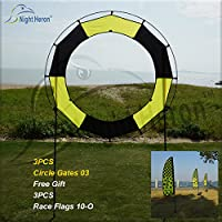 Night Heron FPV Circular Race Gates 03 with hook and Free Race Flags((3 sets gates+free 3sets flags)