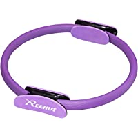 """Reehut Pilates Resistance Ring - 14"""" Power Magic Circle w/Dual Foam Gripped for Full Body Toning, Exercise and Fitness"""
