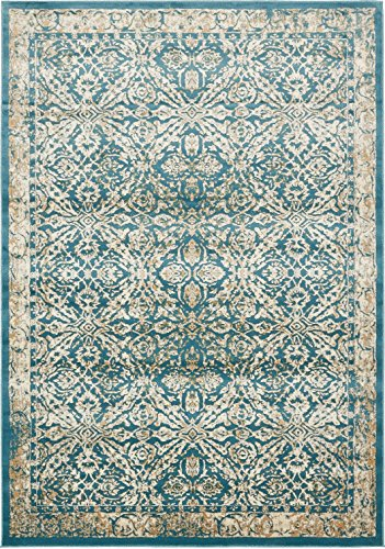 A2Z Rug Teal 8' x 11' 4 FT St. Martin Collection Area rug - Vintage Inspired Overdyed Perfect for Living Dinning Room and Bedroom Rugs, Interior Modern Floor Carpet Design
