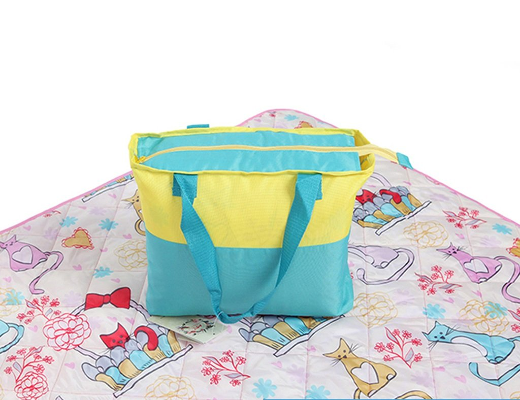 Picnic Blanket Moisture-Proof Pad Camping Waterproof Mat Outdoor Tent Foldable Portable 200200cm (Color : Style 4)
