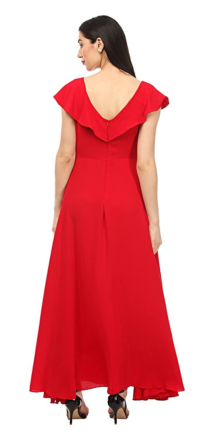 808c01fc308 Lady Stark Women s Crepe Gown  Amazon.in  Clothing   Accessories