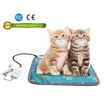 Waroomss Almohadilla para Mascotas, para Gato de Perro, Alfombra de calefacción Ajustable Impermeable de