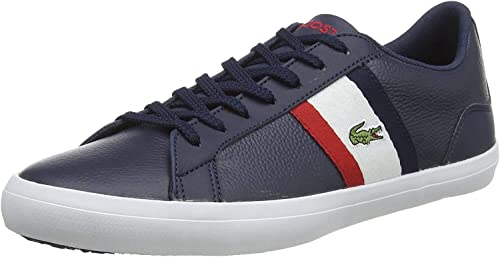 Men/'s Lacoste Lerond 119 3 CMA Low Profile Cushioned Trainers in Blue