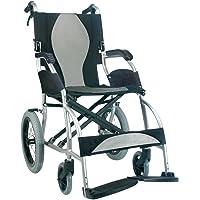Karman Healthcare S-2501 Ergonomic Ultra Lightweight Transport Chair, Pearl Silver, 18-Inch Seat Width