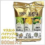 CJ 美酢 ミチョ 900ml×3本セット カラマンシー&パイナップル&マスカット