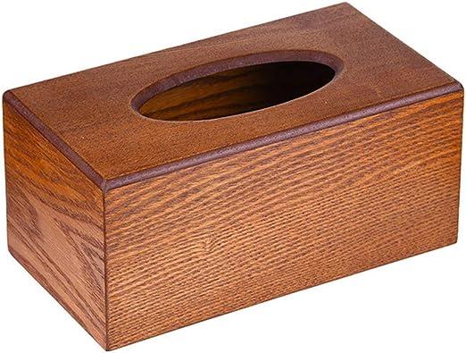 Caja de pañuelos de Madera espaciosa, Caja de Madera Vintage ...