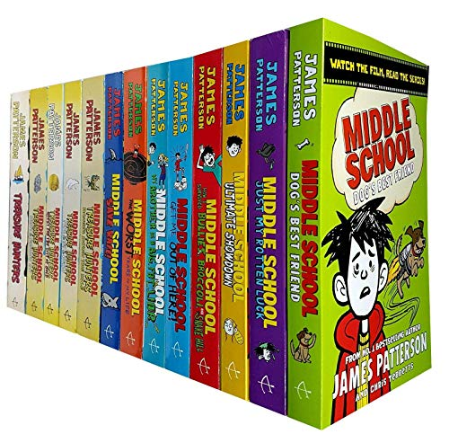 - James Patterson Middle School and Treasure Hunters Collection 13 Books Set