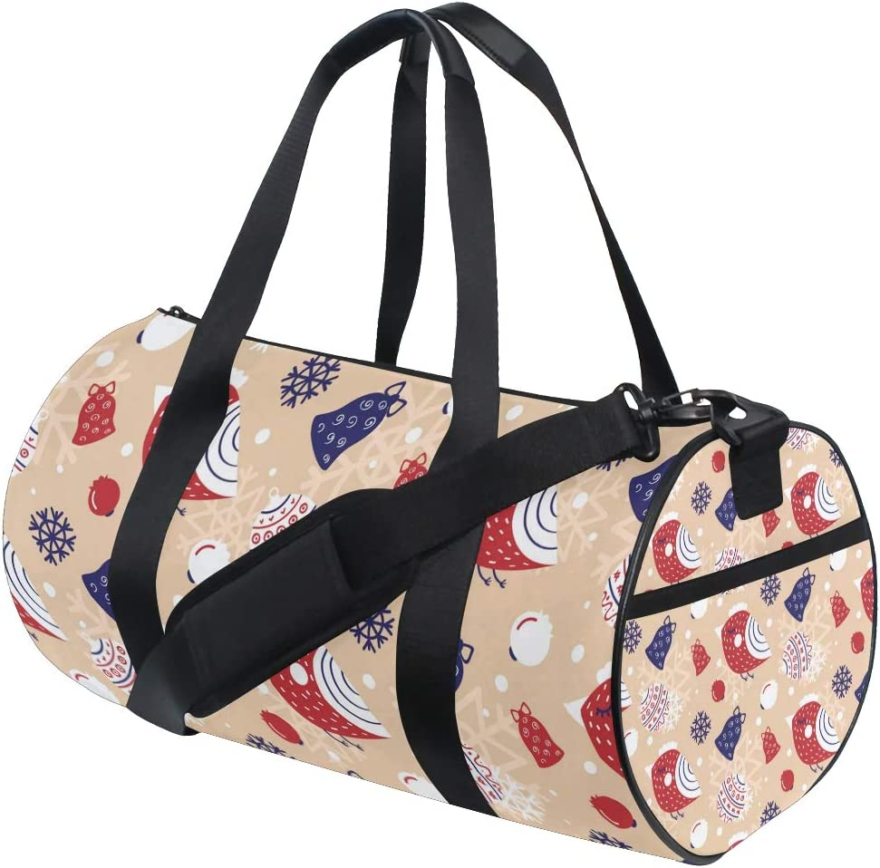 MALPLENA Christmas Bell Lamp Inbetweening Drum gym duffel bag women Travel Bag