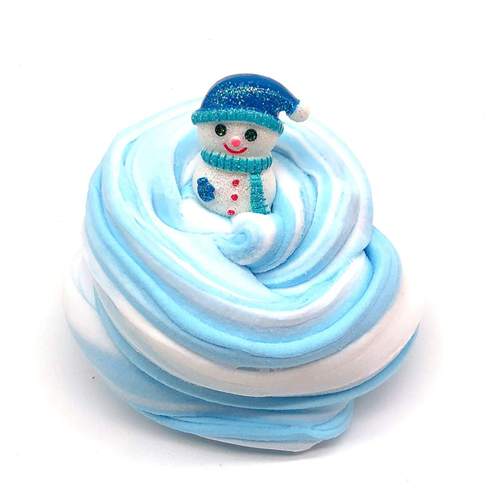 Hpapadks Christmas Snowman Mud Slime Putty Scented Stress Clay Sludge Toy for Xmas Gift