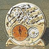 Automaton 1783 wooden decorative table clock, unique clock, personalized gifts, anniversary gift, mantle clock, home decor, desk clock