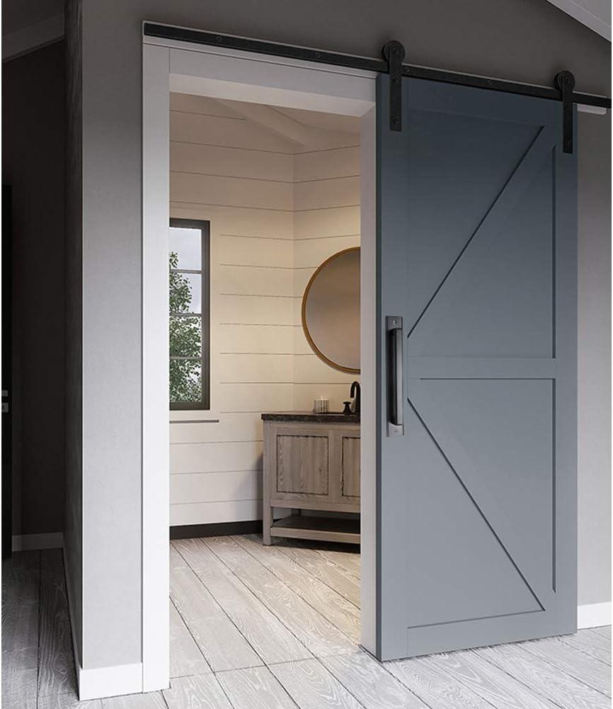 Tiradores de arco, manija de puerta corredera de granero de aleación de aluminio negro para puerta de jardín de madera, cobertizo, armario, puerta de granero, tirador para puerta de cobertizo y garaje: