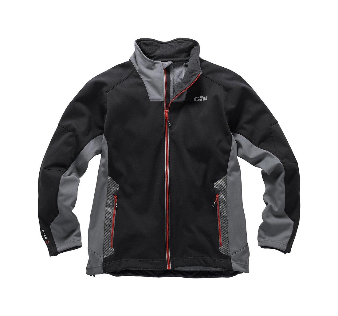 Leichte thermische Materialien Wasserdicht und atmungsaktiv Gill Race Softshell Coat Mantel Graphit