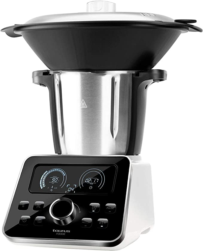 Taurus Foodie-Robot de Cocina multifunción 3.5L Recetas Incluido, 31 Funciones, Báscula integrada, Libre de BPA, 1500W, 1500 W, 3.5 litros, Acero Inoxidable, Negro Inox: Amazon.es: Hogar