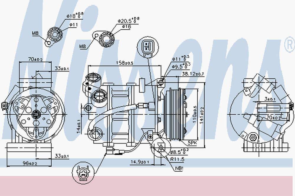 Klimaanlage NISSENS 89350 Kompressor