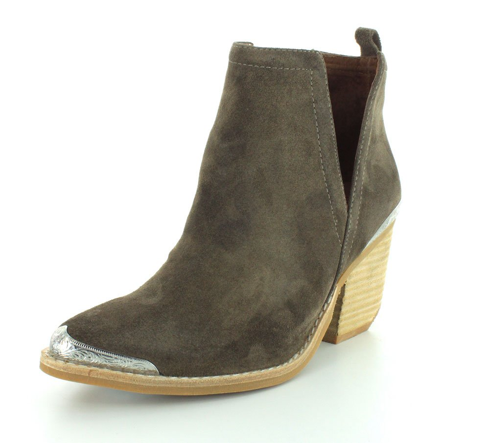 Jeffrey Campbell Women's Cromwell Suede Booties B01DJH0AJG 7 B(M) US|Taupe